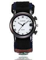 Недорогие -Муж. Модные часы Армейские часы Наручные часы Китайский Кварцевый Повседневные часы Материал Группа На каждый день Черный Зеленый Бежевый