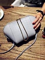 preiswerte -Damen Taschen PU Unterarmtasche Reißverschluss für Normal Alle Jahreszeiten Schwarz Rosa Grau