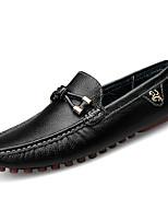 Недорогие -Муж. обувь Полиуретан Зима Осень Удобная обувь Мокасины Мокасины и Свитер для Повседневные Белый Черный Синий