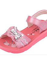 cheap -Girls' Shoes Leatherette Spring Summer Comfort Flower Girl Shoes Sandals for Casual Pink Light Red Purple