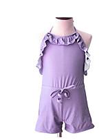 cheap -Girls' Solid Swimwear, Acrylic Purple