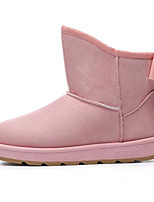 cheap -Women's Shoes Nubuck leather Winter Fall Comfort Snow Boots Boots Flat Heel Booties/Ankle Boots for Casual Black Coffee Brown Pink