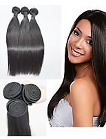 Недорогие -Бразильские волосы Прямой силуэт Ткет человеческих волос 3шт 0.35