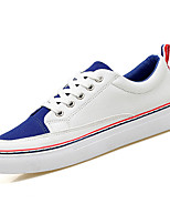 Недорогие -обувь Полотно Весна Осень Удобная обувь Кеды для Повседневные Розовый и белый Черно-белый Белый/синий