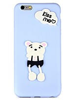 "economico -Custodia Per Apple iPhone 7 iPhone 6 Fai da te Custodia posteriore Frasi famose Animali Fantasia ""Cartone 3D"" Morbido TPU per iPhone 7"