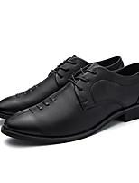 Недорогие -мужская обувь pu spring fall comfort oxfords для наружного синего черного