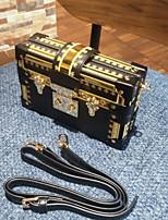 cheap -Women's Bags PU Evening Bag Buttons for Casual All Seasons Dark Green Black