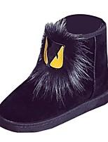 Недорогие -Для женщин Обувь Нубук Замша Зима Осень Удобная обувь Зимние сапоги Ботинки На плоской подошве Круглый носок Сапоги до середины икры для