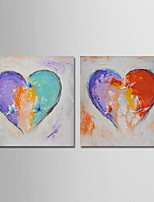 Hand-Painted Abstract Horizontal,Modern Canvas Oil Painting Home Decoration Two Panels