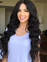 cheap -Natural Color Loose Wave Lace Front Human Hair Wigs With Baby Hair Brazilian Virgin Hair Wigs for Black Women