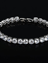 cheap -Women's Bracelet Synthetic Diamond Rhinestone Silver Plated Jewelry Wedding Party Costume Jewelry Gold Silver
