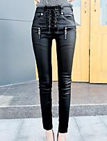 cheap -Women's Modern Style PU Thick PU Legging,Print Black