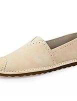 abordables -Homme Chaussures Polyuréthane Printemps Automne Confort Mocassins et Chaussons+D6148 pour Décontracté Beige Gris Vert Véronèse