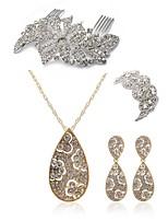 Недорогие -Жен. Гребни Свадебные комплекты ювелирных изделий Стразы Искусственный бриллиант Сплав Геометрической формы Свисающие Мода европейский