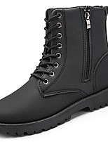 cheap -Men's Shoes Synthetic Microfiber PU Winter Combat Boots Boots for Casual Brown Black