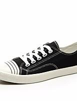 Недорогие -Муж. обувь Полотно Весна Осень Удобная обувь Кеды для Повседневные Белый Черный Красный