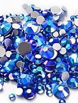 cheap -Rhinestones Crystal Dark Blue Nail Art Design