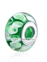 cheap -DIY Jewelry 1 Beads Green Ball Silver Glass Bead 1.5 cm DIY Bracelet Necklace