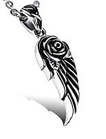 cheap -Men's Wings / Feather Casual Fashion Pendant Necklace , Titanium Steel Pendant Necklace , Other Daily