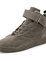 preiswerte -Herren Schuhe Echtes Leder Nubukleder Leder PU Winter Herbst Komfort Leuchtende Sohlen Sneakers Walking für Normal Schwarz Grau Braun Rot