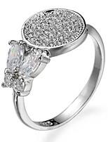 preiswerte -Damen Bandringe Knöchel-Ring Kubikzirkonia Formell Einfach Klassisch Elegant Kupfer Kreisform Schleifenform Schmuck Hochzeit Party
