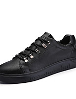 cheap -Men's Shoes Leatherette Spring Summer Comfort Sneakers for Casual White Black