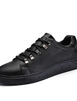 Недорогие -Муж. обувь Дерматин Весна Лето Удобная обувь Кеды для Повседневные Белый Черный