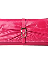 cheap -Women Bags Cowhide Wallet Ruffles for Shopping Casual All Season Fuchsia Orange