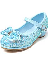 Недорогие -Девочки обувь Полиуретан Весна Осень Детская праздничная обувь Оригинальная обувь Удобная обувь На плокой подошве Стразы Бант Пряжки для