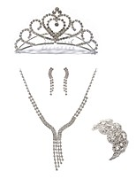 cheap -Women's Tiaras Bridal Jewelry Sets Rhinestone Imitation Diamond Alloy Geometric Line Fashion European Wedding Party Body Jewelry 1