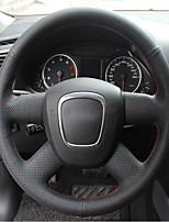 abordables -tapas del volante automotriz (cuero) para audi a4l botón de estilo antiguo sin función