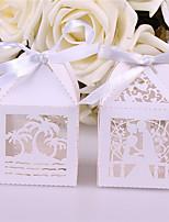 Недорогие -Square Shape Розовая бумага Фавор держатель с Ленты Коробочки