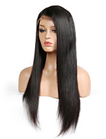 cheap -Human Hair Lace Front Wig Peruvian Hair Straight With Baby Hair 130% Density Unprocessed Natural Hairline Short Medium Long Human Hair