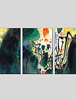cheap -Hand-Painted Abstract Vertical Panoramic, Modern Oil Painting Home Decoration Three Panels
