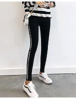 cheap -Women's Stylish Polyester Medium Solid Color Legging,Solid Gray Dark Gray Black