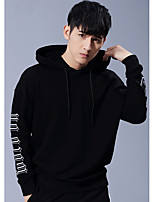 cheap -Men's Plus Size Casual/Daily Simple Hoodie Solid Round Neck Hoodies Micro-elastic Cotton Long Sleeve Winter Fall