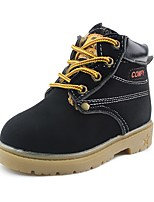 cheap -Boys' Shoes Leatherette Spring Fall Comfort Boots Lace-up for Casual Outdoor Brown Yellow Black