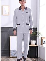 abordables -Costumes Pyjamas Homme,Fleur Moyen Polyester Gris