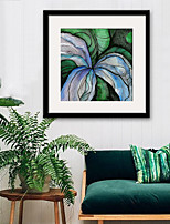 cheap -Abstract Floral/Botanical Illustration Wall Art,PVC Material With Frame For Home Decoration Frame Art Living Room Bedroom Kitchen Dining