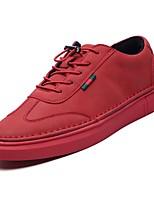 Недорогие -обувь Полиуретан Осень Удобная обувь Кеды для Повседневные Белый Черный Красный