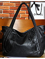 cheap -Women Bags PU Shoulder Bag Zipper for Casual Outdoor Winter Fall Black