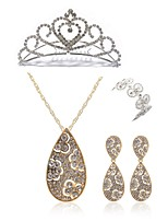cheap -Women's Tiaras Bridal Jewelry Sets Rhinestone Fashion European Wedding Party Imitation Diamond Alloy Geometric Drop Body Jewelry 1