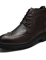 cheap -Men's Shoes Synthetic Microfiber PU Cowhide Spring Fall Formal Shoes Comfort Bootie Boots Booties/Ankle Boots for Casual Party & Evening