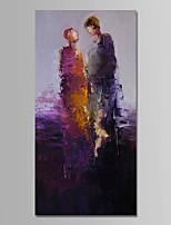 economico -Dipinta a mano Astratto Verticale, Contemporaneo Semplice Modern Tela Hang-Dipinto ad olio Decorazioni per la casa Un Pannello