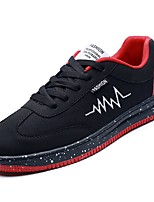 cheap -Men's Shoes PU Spring Fall Comfort Sneakers for Casual Black/Blue Black/Red Black/White