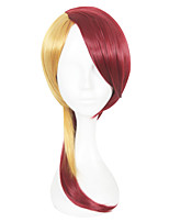 cheap -Synthetic Hair Wigs Straight Capless Cosplay Wig Red