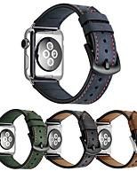 Недорогие -Ремешок для часов для Apple Watch Series 3 / 2 / 1 Apple Классическая застежка Натуральная кожа Повязка на запястье