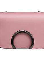 cheap -Women Bags PU Polyester Shoulder Bag Buttons for Casual All Season Purple Blushing Pink Red Black Green