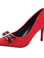 cheap -Women's Shoes TPU Spring Basic Pump Heels Walking Shoes Stiletto Heel Peep Toe Bowknot for Casual Red Black