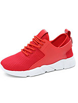 cheap -Women's Shoes PU Spring Fall Comfort Sneakers Flat Heel for Casual Red Black